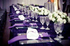 violets dekors kāzās, balticwedding