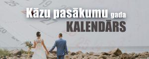 kāzu pasākumu gada kalendārs